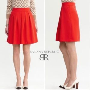 Banana Republic coral Red Pleated Full Skirt 4